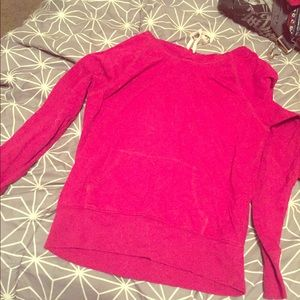 Magenta hooded sweatshirt